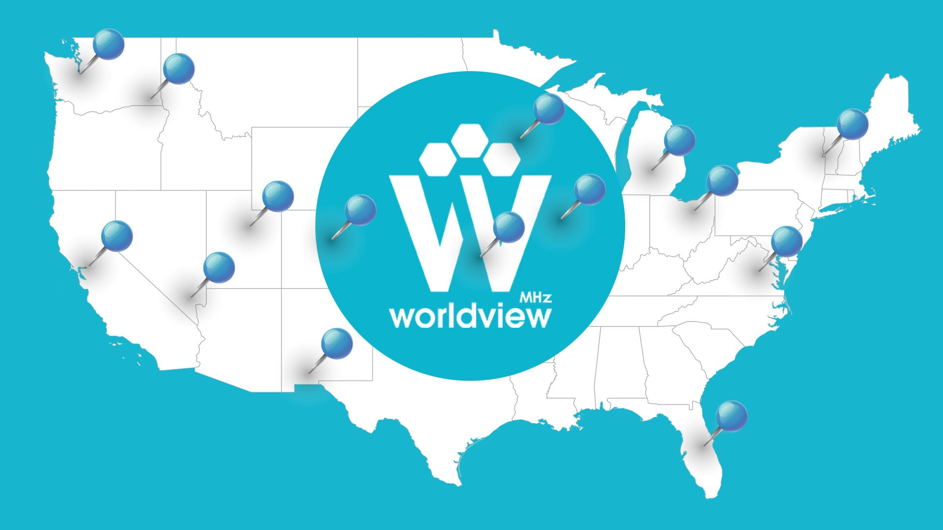 Where to Watch MHz Worldview - Map
